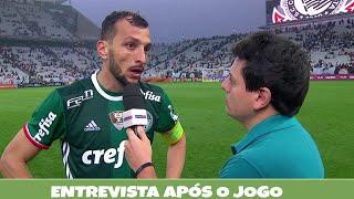 Entrevista dos jogadores do Palmeiras após a vitória contra o Corinthians.