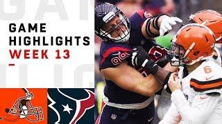 Browns vs. Texans Week 13 Highlights | NFL 2018