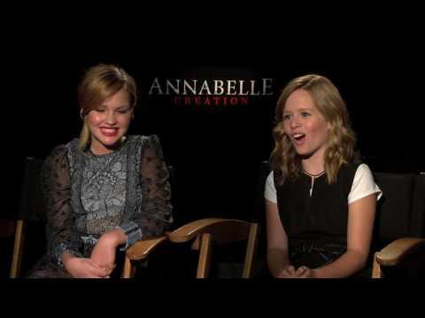 "Talitha Bateman, Lulu Wilson Interview for ""ANNABELLE: CREATION"""