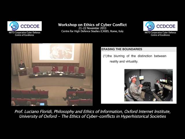 The Ethics of Cyber-conflicts in Hyperhistorical Societies