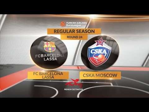 EuroLeague Highlights RS Round 24: FC Barcelona Lassa 61-85 CSKA Moscow
