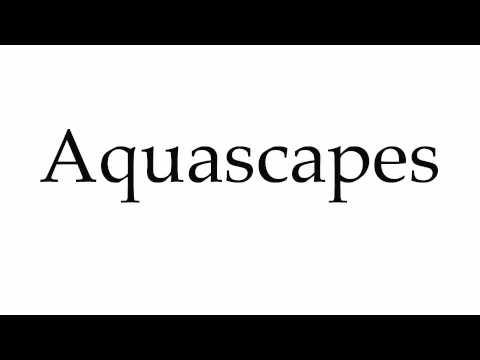 How to Pronounce Aquascapes
