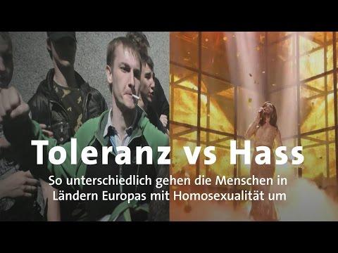 Eurovision - Wie tolerant sind Europäer gegenüber Homosexuellen?