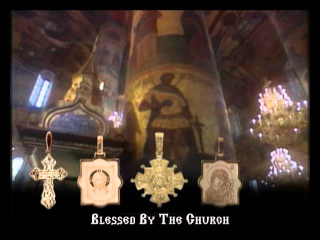 """The Phoenix Bird"" Orthodox Christening Cross. 585 (14kt) Rose Gold. Video Thumbnail"