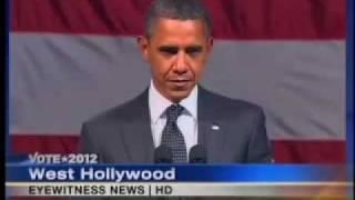 WATCH OBAMA'S FACE FREEZE - 'ANTICHRIST SPIRIT' CONFRONTED!