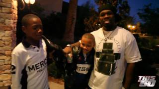 50 Cent At Floyd Mayweather's Big Boy Mansion with Rick Ross' son, Tia and Diddy in Las Vegas