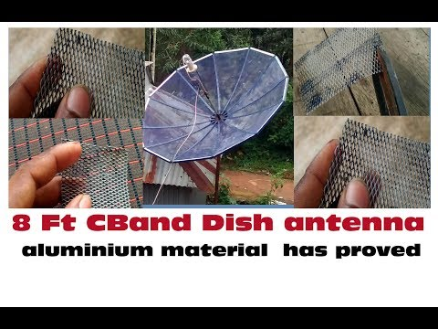 8 Feet CBand Dish Antenna Mesh Aluminium Material  Has Proved And High Frequency Of Gain