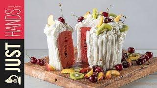 Watermelon & Whipped Cream Torte | Akis Kitchen by Akis Kitchen