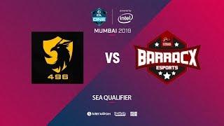 496 Gaming vs PG.Barracx, ESL One Mumbai SEA Quals, bo3, game 1 [Eiritel]