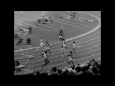 Close-up of Bob Hayes, 100m final, Tokyo 1964