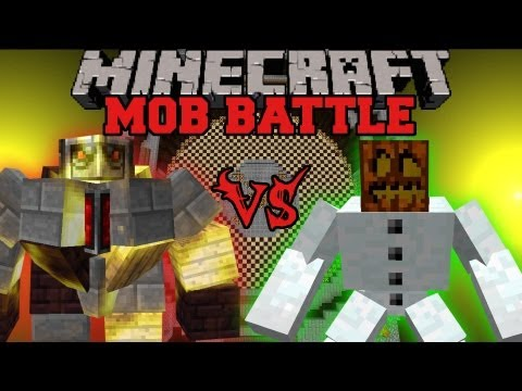 Mutant Snow Golem Vs. Big Golem - Minecraft Mob Battles