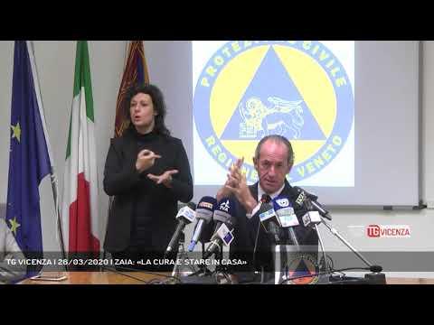 TG VICENZA | 26/03/2020 | ZAIA: «LA CURA E' STARE IN CASA»