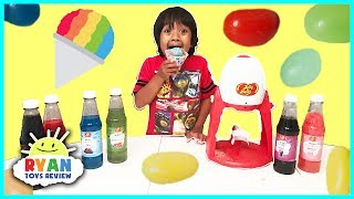 Jelly Belly Candy Snow Cone Maker with different flavors! It's a family fun DIY shave ice with Ryan ToysReview! It creates homemade snow cones with your favorite Jelly Belly Syrup flavors! Great Kids Video for children who loves eating yummy kids treats! Real Food vs Gummy Food Challenge! Kid React to gross candy world's largest gummy worms https://youtu.be/JrqgXplbl9E?list=PLasCX3wfxLR0EtnmoJmiJcl8q8A20Kg9UGus The Gummy Gatorhttps://www.youtube.com/channel/UCZkSuKAy5kMnZXoxo1PrmJQGus The Gummy Gator Videoshttps://www.youtube.com/playlist?list=PLmR7l1HjQXtkRg9sSfAISNpO1rIH3L9OCWorld's Largest Gummy Candy Challengehttps://www.youtube.com/playlist?list=PLasCX3wfxLR2Le2an3NVhCZSB5iz2t3oWGUMMY FOOD VS REAL FOOD CHALLENGE taste testhttps://youtu.be/ULWjXK0XAYc?list=PLasCX3wfxLR2Le2an3NVhCZSB5iz2t3oWGIANT CHOCOLATE CANDY taste test! Hershey's Kiss, Gold Coins, Peanut Butter Cups Candy Review https://youtu.be/3Aya1dKKqxs?list=PLasCX3wfxLR2Le2an3NVhCZSB5iz2t3oWOREO CHALLENGE! 20 Flavors blindfold Guess the Flavors Taste Test Funny Video!https://youtu.be/AIK4jlp2Fj0?list=PLasCX3wfxLR2Le2an3NVhCZSB5iz2t3oWSMOOTHIE CHALLENGE! Super Gross Smoothies for Kidshttps://youtu.be/CmfQIEDjnis?list=PLasCX3wfxLR2Le2an3NVhCZSB5iz2t3oWPIZZA CHALLENGE RYAN TOYSREVIEW with Bean Boozled Gross Pizza Candy https://youtu.be/CfFXSIouRCg?list=PLasCX3wfxLR2Le2an3NVhCZSB5iz2t3oWGiant Chupa Chups Lollipops Gummy Joker Tongue Toy Toilet Candy Gator Gummy Candyhttps://youtu.be/fY_qGmGT_vM?list=PLasCX3wfxLR2Le2an3NVhCZSB5iz2t3oWGIANT HERSHEY CHOCOLATE BAR with GIANT LOLLIPOP Eggs Surprise Toys https://youtu.be/g-lECgSu6MU?list=PLasCX3wfxLR2Le2an3NVhCZSB5iz2t3oWGUMMY JOKER TONGUE Viper Tongue Gummy Pizza Marvel Egg Surprise Toy Candy https://youtu.be/vWVp8FPo6A8?list=PLasCX3wfxLR2Le2an3NVhCZSB5iz2t3oWWORLD'S LARGEST GUMMY SNAKE CANDY CHALLENGE 26lb Giant Gummy Worm Python https://youtu.be/vbcGHYouMfY?list=PLasCX3wfxLR2Le2an3NVhCZSB5iz2t3oWWorld's Largest Gummy Bear Challenge Ryan ToysReview https://youtu