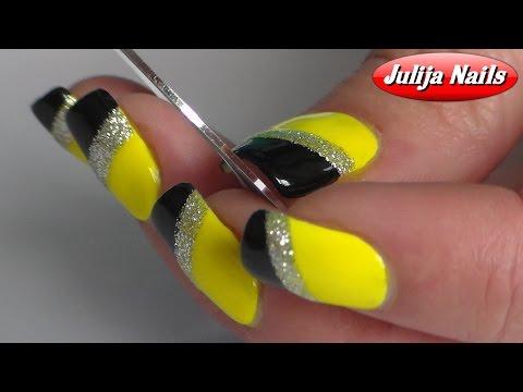 Дизайн для ногтей лентами фото