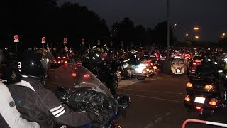 Moulins France  city photo : Goldwing club de France - Light Parade / Moulins 2015