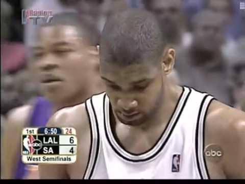 2004 NBA Playoffs WCSF G1 Lakers vs. Spurs