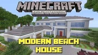 Minecraft Xbox 360: Modern Beach House! Miami Style! (House Tours of Danville Episode 28)