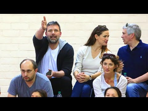 Ben Affleck Is A Serious Sports Fan, With Jennifer At Samuel's Basketball Game