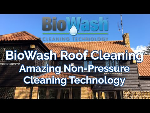 BioWash Cleaning Technology - Amazing Non-pressure Roof Cleaning
