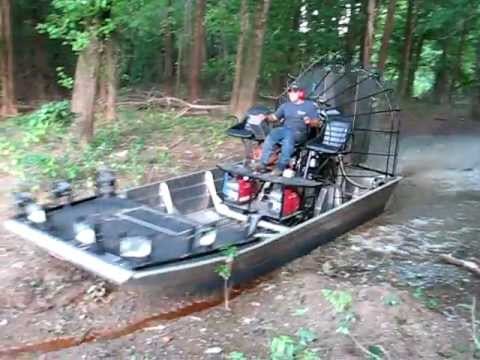 Jumping a Beaver Dam in an Airboat!