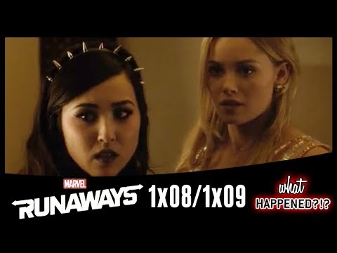 "MARVEL'S RUNAWAYS Episodes 8 & 9 Recap: Betrayal & Hookups ""Tsunami"" & ""Doomsday"" 