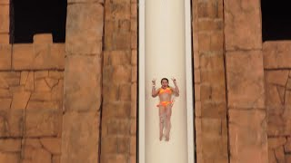 Riding the Leap of Faith Water Slide in Atlantis (WK 207.4) | Bratayley