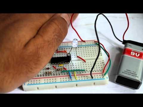 Blinker using CD4093 and LDR