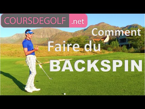 Cours de golf video : Faire du Backspin. Proposé par Renaud Poupard
