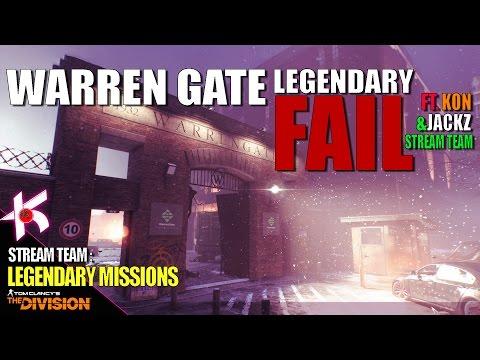 The Division  Warren Gate Power Plant Legendary  Stream Team ft Kracker Jackz [PS4 PRO]