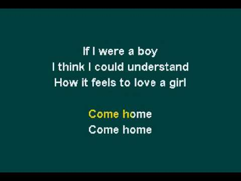 Beyonce - If I Were A Boy (Karaoke) instrumental