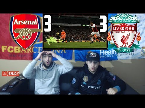 BARÇA & MADRID FANS REACT TO: ARSENAL 3-3 DRAW OVER LIVERPOOL - REACTION
