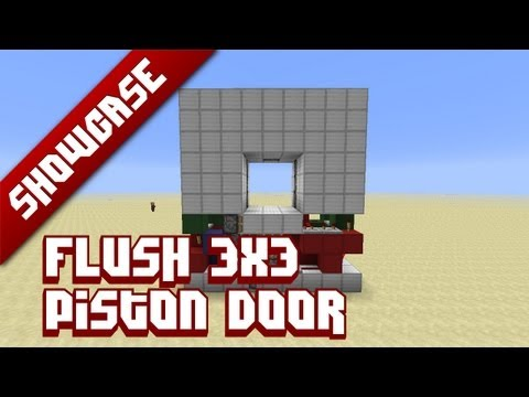 how to make a piston door in the ground