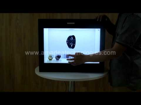 transparent touch showcase