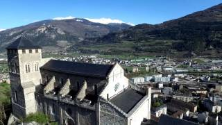 Sion Switzerland  City new picture : Castles of Sion, Switzerland - DJI Phantom