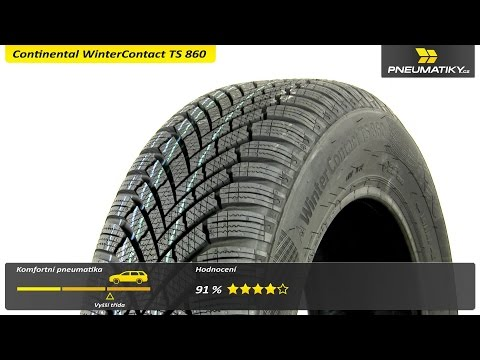 Youtube Continental WinterContact TS 860 165/70 R14 81 T Zimní
