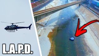 Video Tubing Down L.A. River GONE HORRIBLY WRONG!!! **Police Helicopters** (Worlds Most Toxic River) MP3, 3GP, MP4, WEBM, AVI, FLV Juni 2018