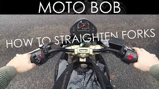 10. How To Straighten Motorcycle Forks & Handlebars