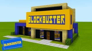 Minecraft Tutorial: How To Make A Blockbuster Video Store (2019 City Tutorial)