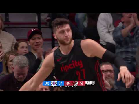 Jusuf Nurkic Posts 21 points & 12 rebounds vs. Los Angeles Clippers