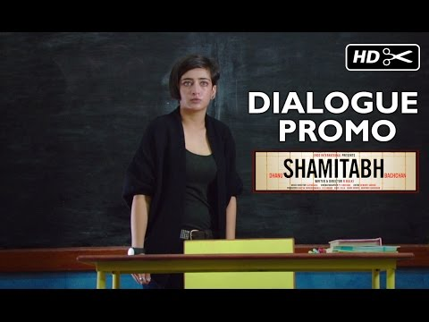 Video SHAMITABH (Dialogue Promo) | Amitabh Bachchan, Dhanush, Akshara Haasan download in MP3, 3GP, MP4, WEBM, AVI, FLV January 2017