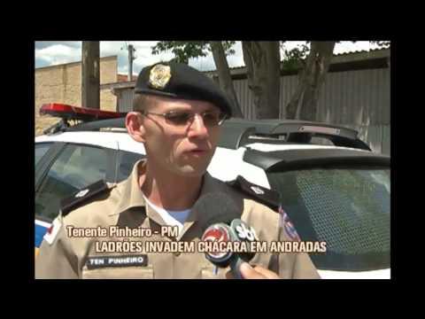 Ladrões invadem casa e quebram carros em chácara em Andradas
