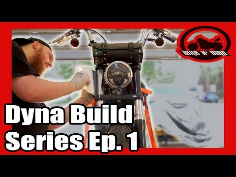 Harley Dyna Build Series Ep.1 - Exhaust, Headlight, Paint, Vinyl Wrap