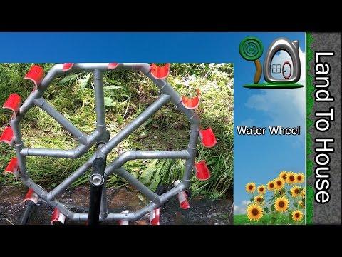 Land To House Adventure Episode 10 - Water Wheel Pump