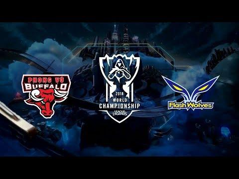 【2018全球總決賽】小組賽 第一天 PVB vs FW ...