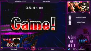 ASH@WIT 15 – Westballz (Falco) vs Kels (Fox) Melee Loser's Semis