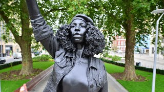 video: Colston statue: Let Bristol people decide, says mayor, after sculpture of BLM protester placed on empty plinth