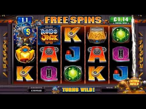 RoboJack Online Slot Game Promo Video