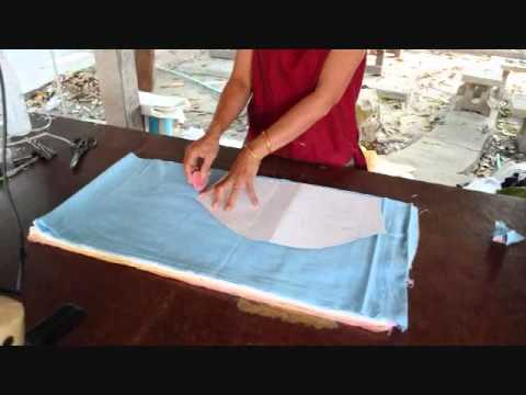 How to make Thai Chinese Kung Fu Shirts! Natural Trades Clothing Fair Trade OTOP Manufacturers