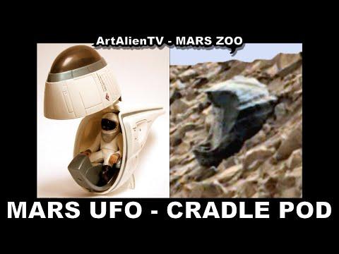 """MARS UFO – CRADLE POD: Amazing Alien Anomaly. """"TOMBRAIDERS""""  ArtAlienTV – MARS ZOO 1080p"""