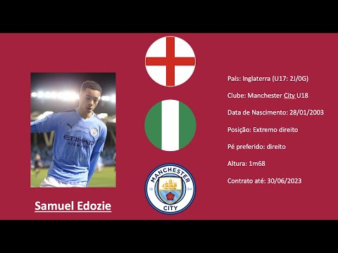 Samuel Edozie (Manchester City) 19/20 highlights